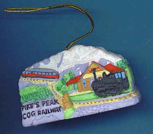 Cog Railroad Ornament