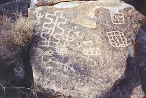 Petroglyphs near Laughlin