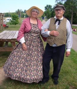 Couple in Civil War dress