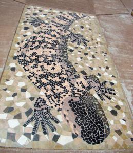 Tile Gila Monster at Museum Entrance