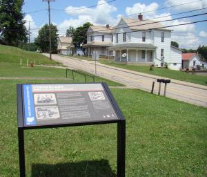 First Morgan's Trail sign in Guernsey County at Cumberland, Ohio