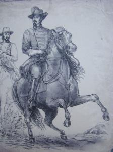 Sketch of Brig Gen John Hunt Morgan