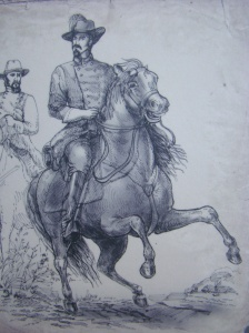 Sketch of Brig Gen John Hunt Morgan
