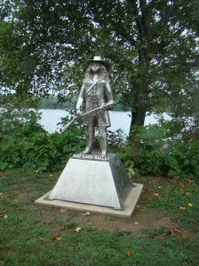 Statue of Mad Anne Bailey along the Ohio River