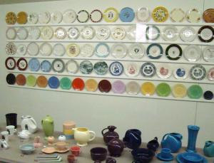 Display of Homer Laughlin China Company's popular items
