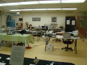 Curators at work in the research facility