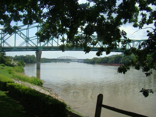Bridge over Kanawha River where it joins the Ohio River.