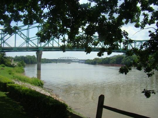 Bridge over Kanawha River where it joins the Ohio River.