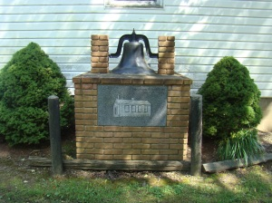 Original Bell at Hopewell School