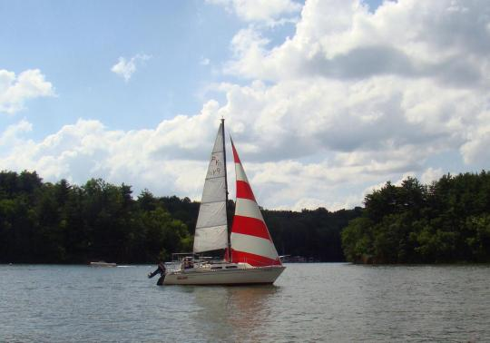 Sailing along on Seneca Lake