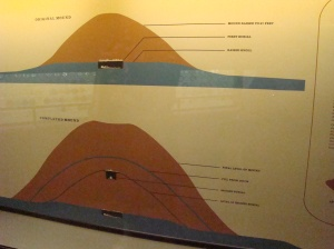 The mound was built over a period of 200 years with burial vaults at different layers.