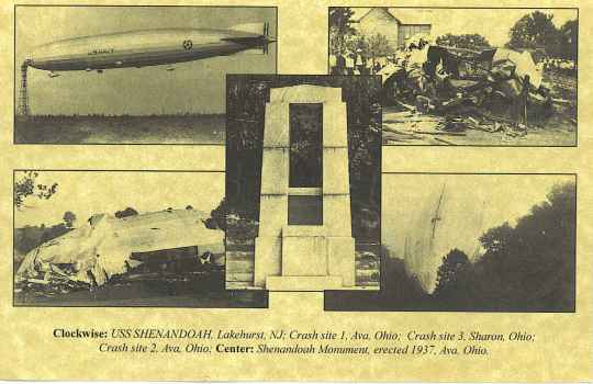USS Shenandoah Station Memorial Post Card