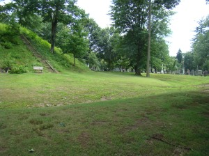 Ditch and embankment surrounding The Great Mound