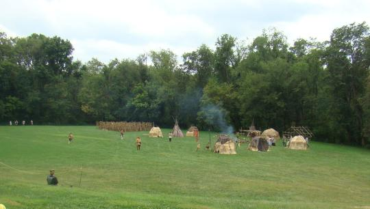 Indian Village for Reenactment