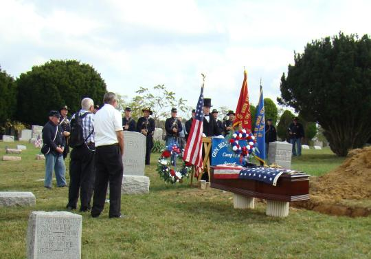 Governor Dennison rededicated Pvt. Robinson's remains.