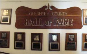 Guernsey County Hall of Fame Wall