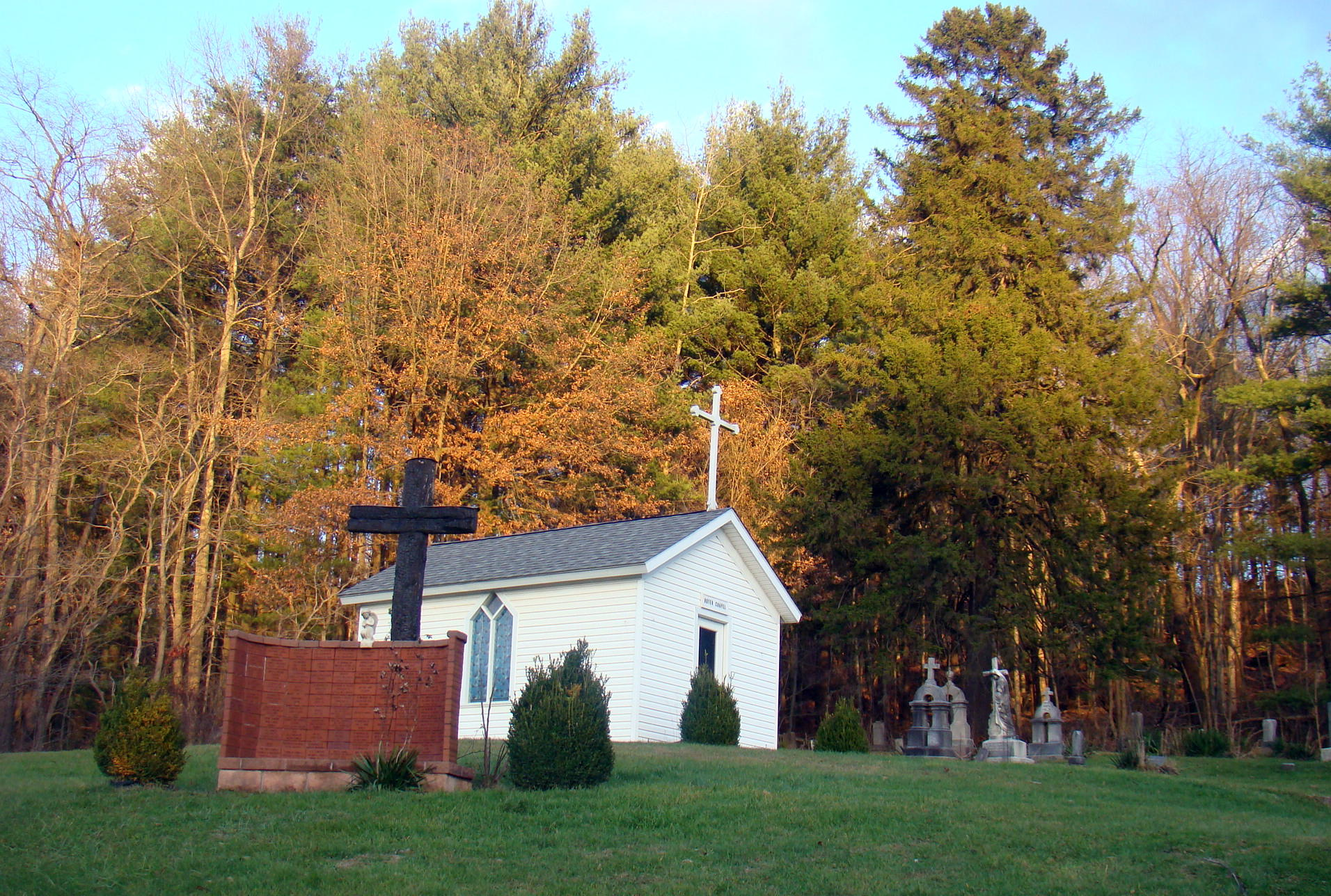 Royer Chapel with Memorial Wall