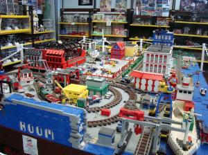 Lego Train Room is animated at the push of a button.