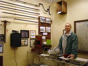 Steve Stolarik explains Mineres Museum.