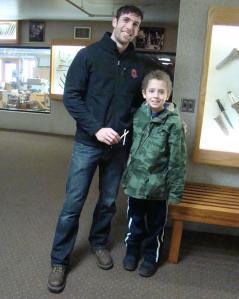 Family member, Steven Cunningham, makes pliers for children today.