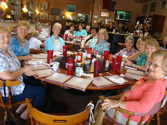 Buckeye Ladies gather for their weekly luncheon.