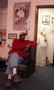 Dr. John Mattox, curator of the museum