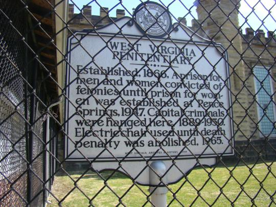 WV Penitentiary Welcome Sign