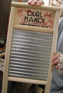 Dubl Handi Washboard with two different rubbing surfaces