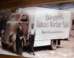 Brothers Fred and Ernest with their Famous Warther Models traveling show