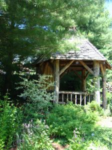Rustic Gazebo in the middle of the gardens