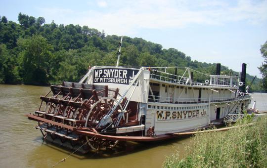 W.P. Snyder, Jr on the Muskingum River in Marietta, Ohio