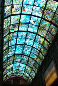 Stained Glass Ceiling at New Vrindaban Temple