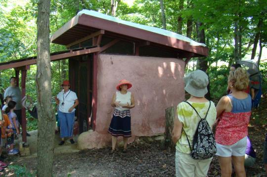 Annie, the owner and guide, is easily spotted with her pink hat.