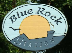 Blue Rock Station entrance sign