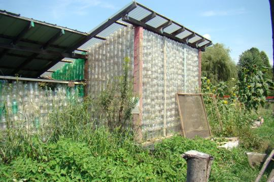 Plastic two-liter bottle Greenhouse