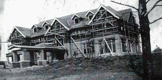 Gross Mansion under construction