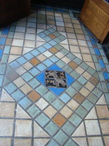 Beautiful tile in the entry way