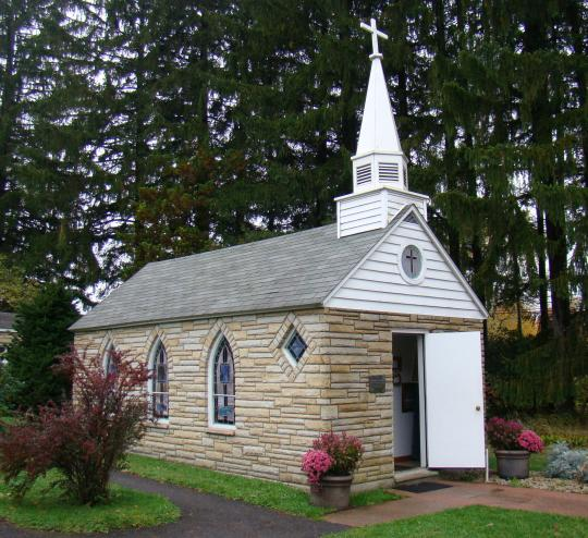 Listed as smallest church in 48 states, but that is debatable.