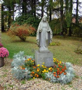 Statue outside the church