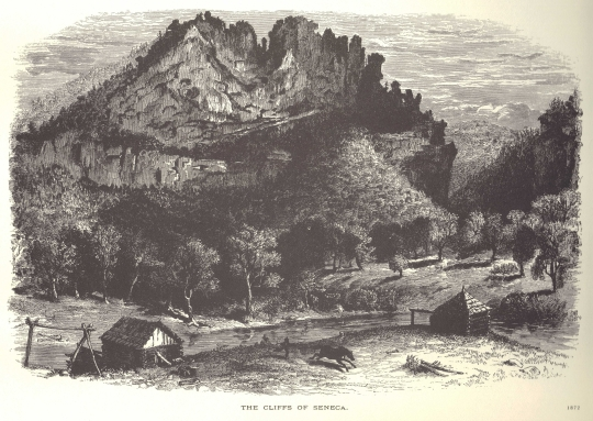 The Cliffs of Seneca by David Strother for New Harpers Magazine in 1872.