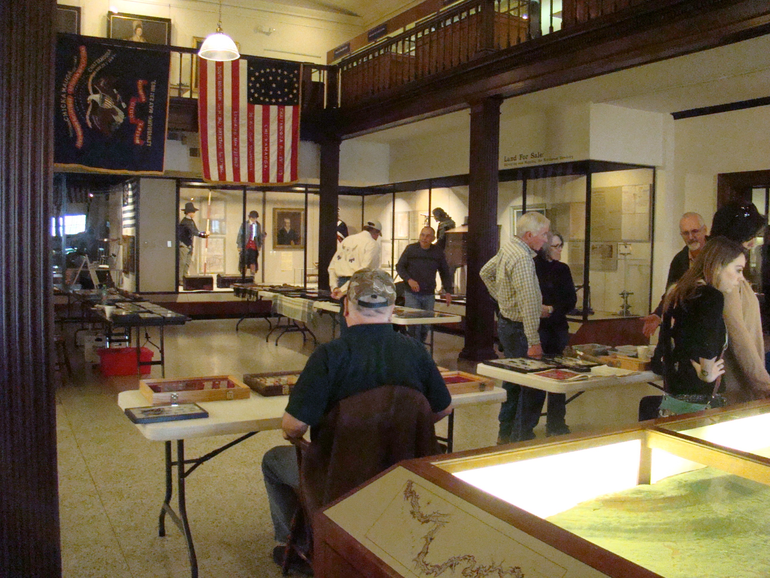 Archaeology displays filled the lobby of Campus Martius Museum.