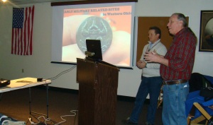One of the speakers at Archaeology presentation