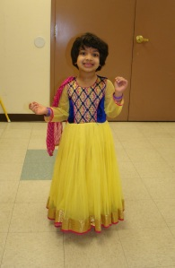 Beautiful Child dressed for worship service.