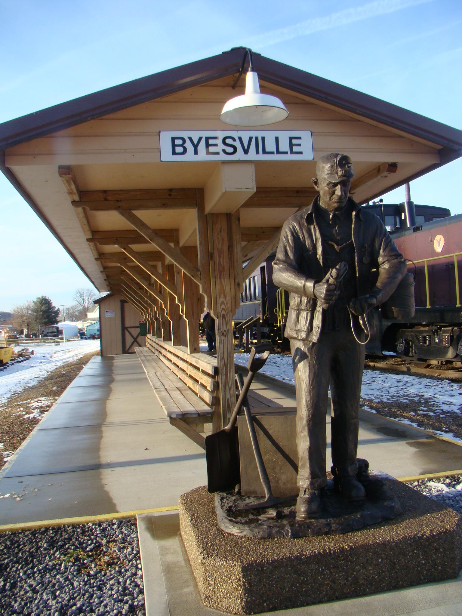 Bronze Ohio Coal Miner Statue