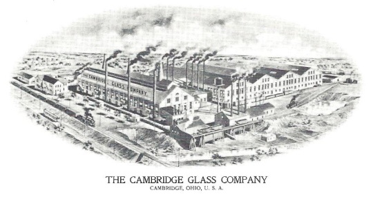 Picture of the original Cambridge Glass Company in 1909