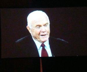 Video showed history of John Glenn.