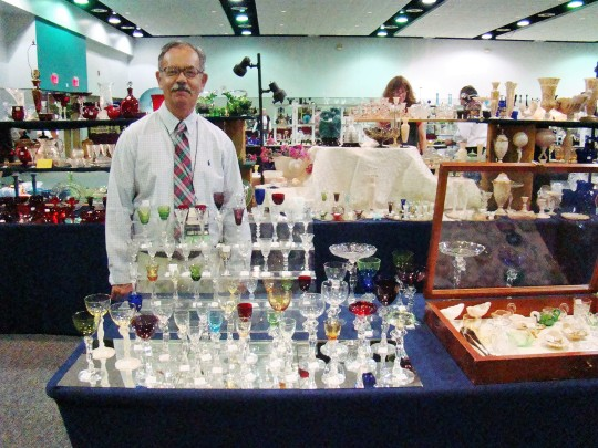 Lynn Welker, Mr Cambridge, displayed part of his cordial collection.