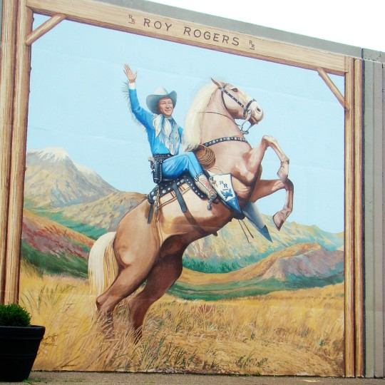 Roy Rogers painting on the Portsmouth Flood Wall.