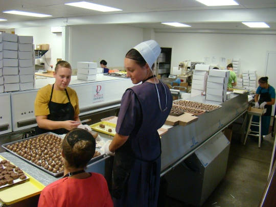 Candy makers at Coblenz Chocolate