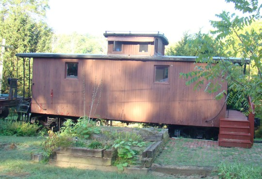 Ellen, Dave's wife, started his collection with this caboose.
